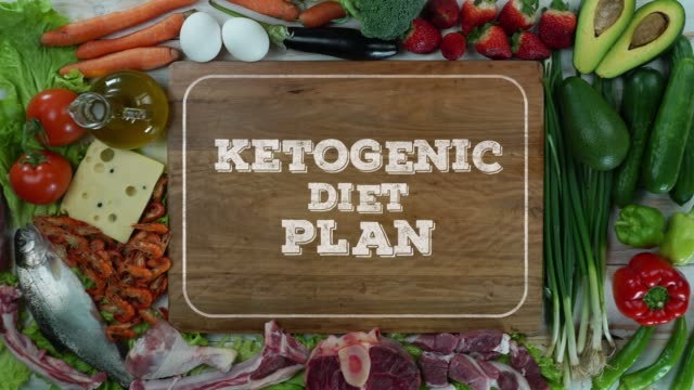Ketogenic diet plan stop motion video