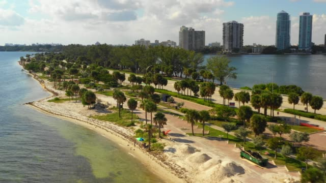 key biscayne miami fl usa - побережье мексиканского залива сша стоковые видео и кадры b-roll