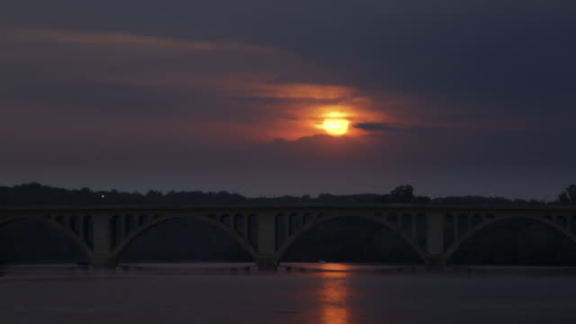 Key Bridge Sunset - Washington, D.C. Time lapse