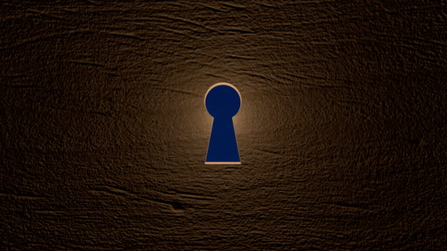 Key hole with clouds from outside A key hole with clouds from outside. Zoom in keyhole stock videos & royalty-free footage