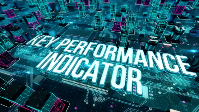 vídeos de stock, filmes e b-roll de indicadores principais de desempenho com o conceito de tecnologia digital - validação