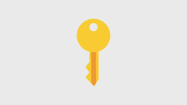 key spinnning icons - chiave video stock e b–roll