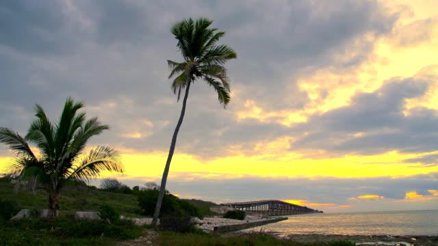 HD DOLLY: Key West Bridge At Dawn video