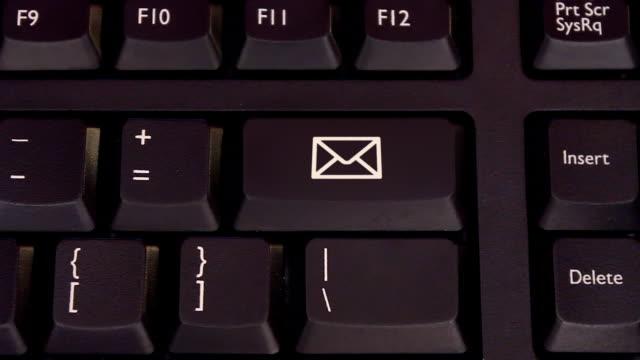 keyboard buttons print, icons and buzzwords - skicka aktivitet bildbanksvideor och videomaterial från bakom kulisserna
