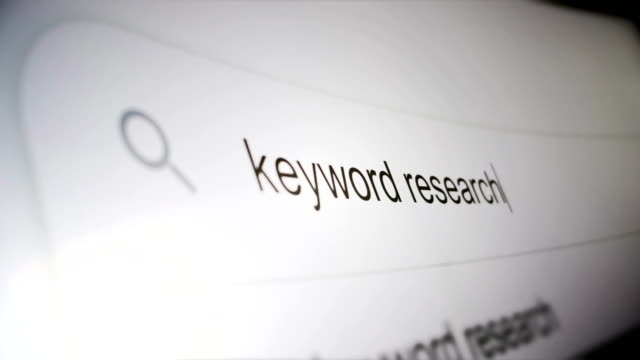 keyword research find by typing on screen in search engine - cercare video stock e b–roll