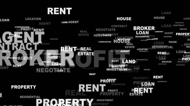 REAL ESTATE Keywords Animation, Rendering, Background, Loop REAL ESTATE Keywords Animation, Rendering, Background, Loop, 4k mortgages and loans stock videos & royalty-free footage