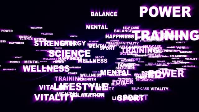 HEALTH Keywords, Rendering Animation Background, Loop video