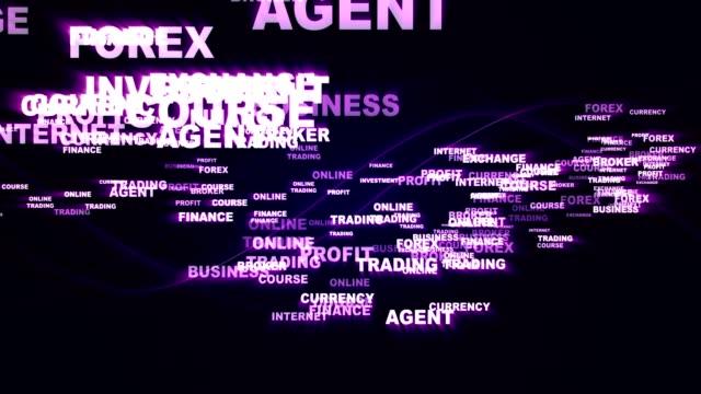 FOREX Keywords Texts, Explosion, Animation, Rendering, Background, Loop