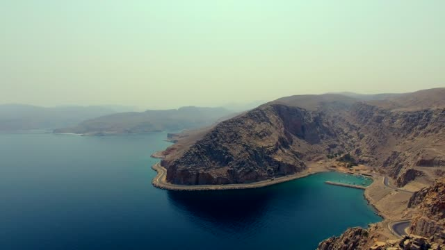 khasab musandam sultanate of oman aerial view - oman video stock e b–roll