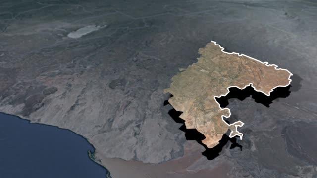 khomas region animation map - insygnia filmów i materiałów b-roll