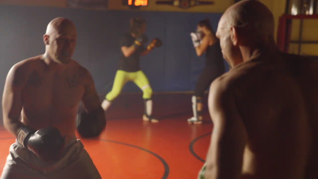 kickboxers sparring - mma stock videos and b-roll footage