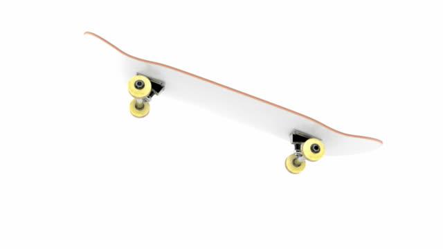 kickflip trick on skateboard - skateboard stock videos & royalty-free footage