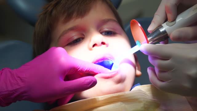 Kid In Dental Office video