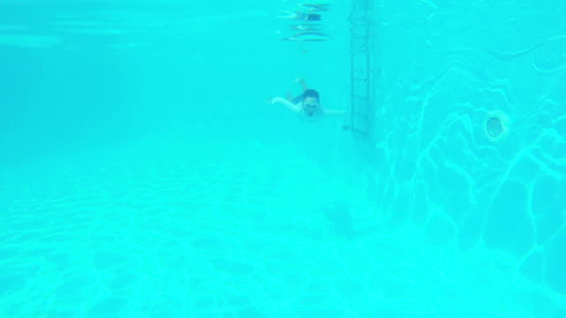 HD: Kid in swimming pool Kid in swimming pool. Slow motion. aegean islands stock videos & royalty-free footage