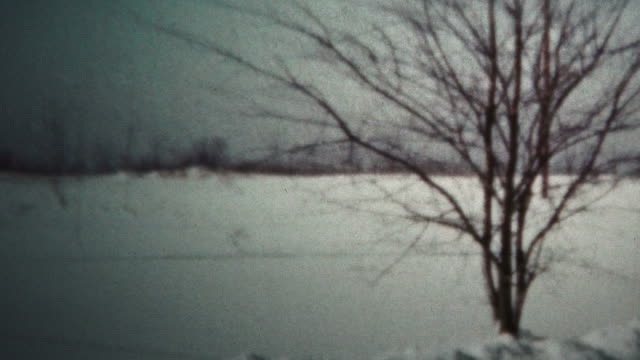 (8mm Vintage) 1962 Kid Shoveling Winter Snow video