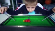 istock Kid wants to make friends. Boy dreams of playing snooker with friends. 1228236358