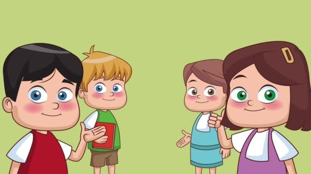 10 942 Cartoon Kids Stock Videos And Royalty Free Footage Istock