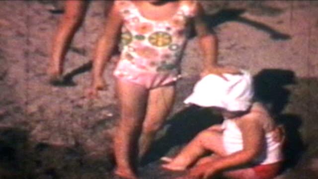 Kids At The Beach (1969 Vintage 8mm film)