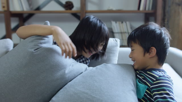 Kids Buried in Sofa Cushions video