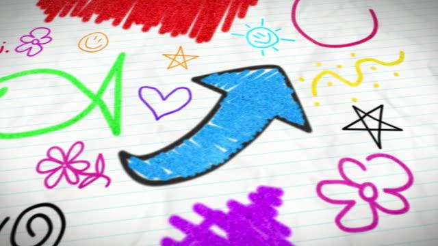 stockvideo's en b-roll-footage met kids doodles - doodles