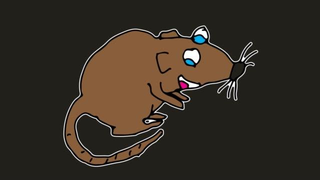 barnen rita svart bakgrund med tema av råtta - animal doodle bildbanksvideor och videomaterial från bakom kulisserna