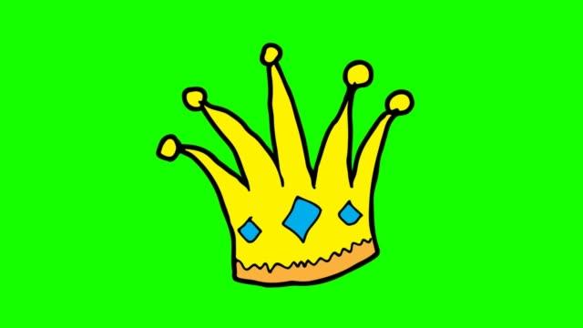 vidéos et rushes de enfants dessinant le fond vert avec le thème de la couronne - couronne reine