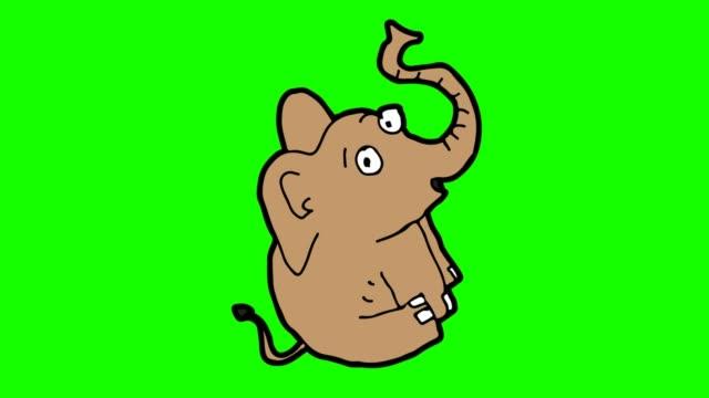 barn ritning grön bakgrund med temat elefant - animal doodle bildbanksvideor och videomaterial från bakom kulisserna