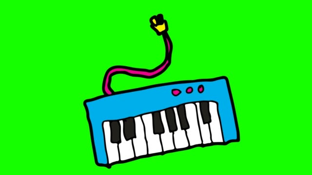Kids Drawing Green Background With Theme Of Piano Keyboard Stock Video Download Video Clip Now Istock The piano is the social instrument par excellence. kids drawing green background with theme of piano keyboard stock video download video clip now istock
