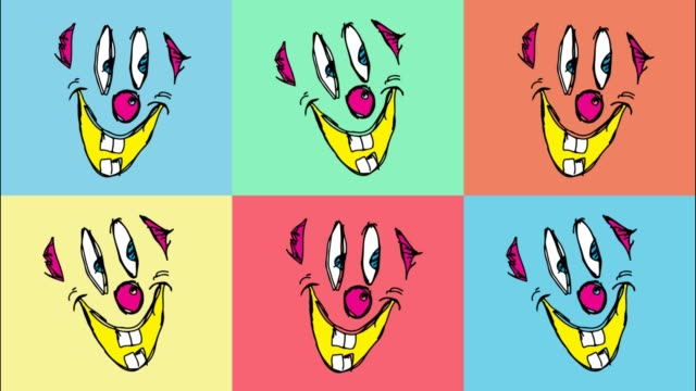 kids drawing pop art seamless background with theme of clown