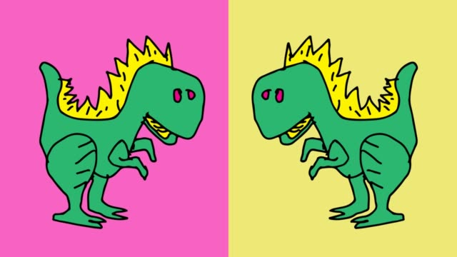 barnen rita popkonst sömlös bakgrund med tema dinosaurier - tyrannosaurus rex bildbanksvideor och videomaterial från bakom kulisserna