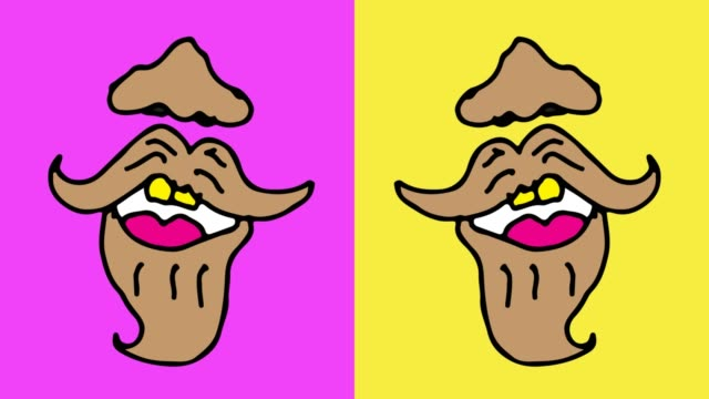 Kids Drawing Pop Art Seamless Background With Theme Of Lips And Beard Stock Video Download Video Clip Now Istock