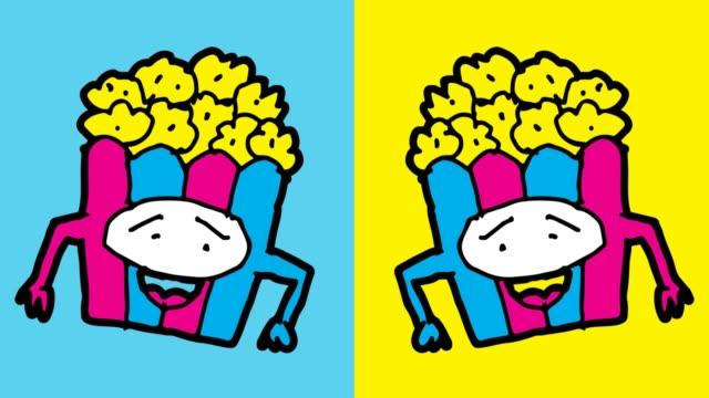 vídeos de stock, filmes e b-roll de crianças, desenho de fundo sem emenda de arte pop com tema de pipoca - balde pipoca