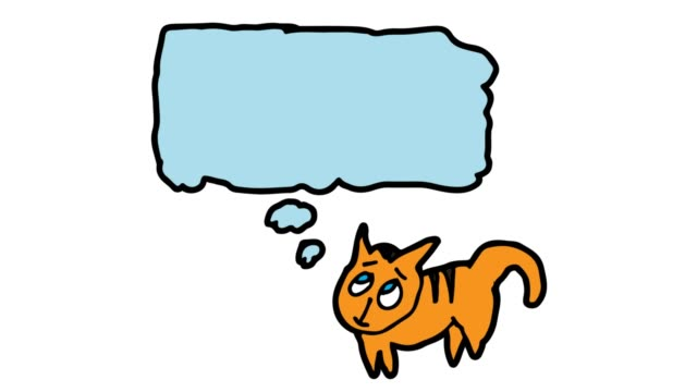 barn ritar vit bakgrund med temat pratbubblor och katt - animal doodle bildbanksvideor och videomaterial från bakom kulisserna