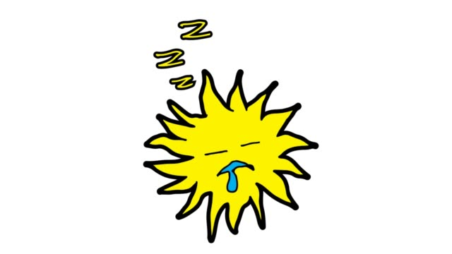 stockvideo's en b-roll-footage met kinderen tekenen van witte achtergrond met thema van zon - sleeping illustration