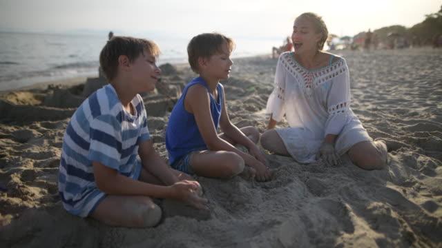 Kids enjoying beach vacations