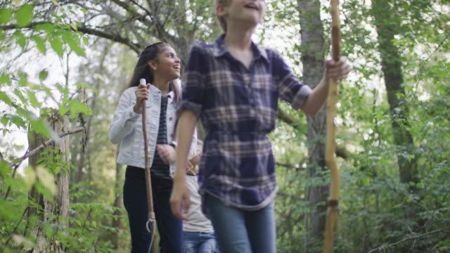 Kids exploring the forest together