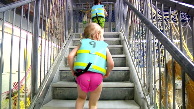 Kids going Up Stairs video