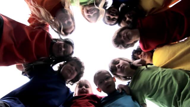 Kids huddle ...in a circle huddling stock videos & royalty-free footage