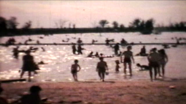 Kids Playing At The Beach (1966 - Vintage 8mm film) video