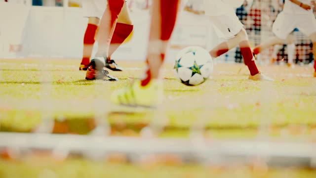 kids playing soccer video