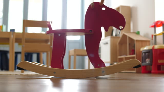 Kids Rocking Horse Room Interior ,toy playroom stock videos & royalty-free footage