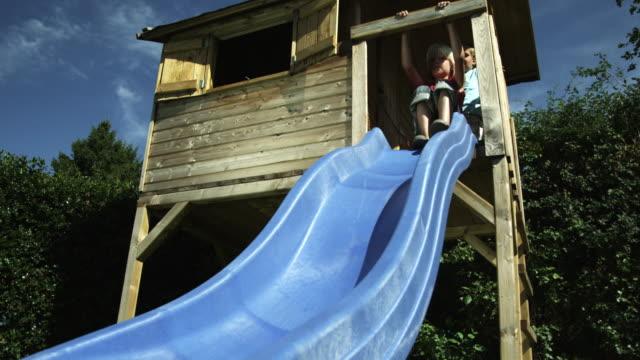 Kids sliding (Shot on Red) video