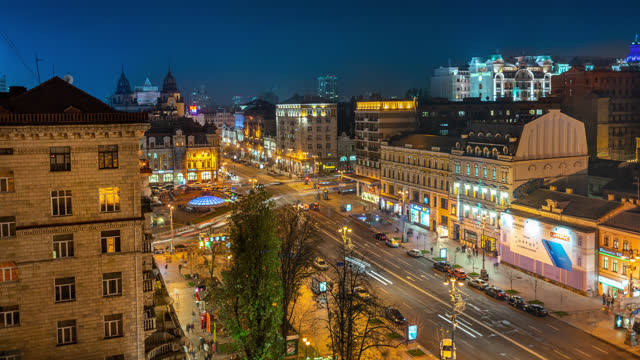 Kiev Ukraine timelapse locked shot showing apartments Kiev Ukraine timelapse locked shot showing apartments neoclassical architecture stock videos & royalty-free footage