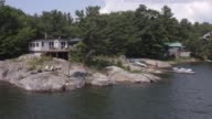 istock killbear provincial park. Aerial view of the private house in Georgian bay. 1207793676