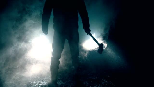 killer di notte - cappello video stock e b–roll