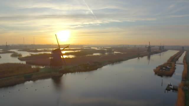 Kinderdijk from the sky