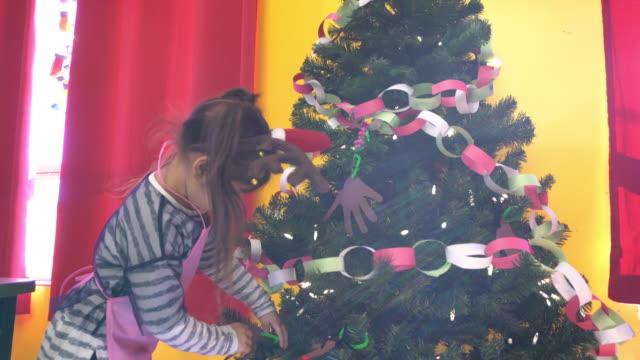 Kindergarten Christmas Tree Decoration Preschool Girl Alone Paper Craft