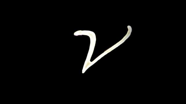 Kinetische Buchstaben U-X – Video