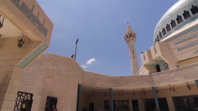 King Abdullah Mosque and Christian church in Amman.