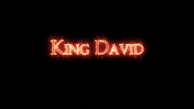 kral david ateşle yazılmış. döngü - salud stok videoları ve detay görüntü çekimi